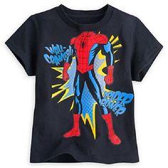 Marvel Kid/'s Spiderman Super Hero In Training L//S Crewneck T Shirt