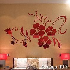 Alrens_DIY(TM)Multi-pcs Large Flowers DIY TV Background Decor Mirror Surface Crystal Wall Stickers Acrylic 3D Home Decal Living Room Murals Wall Paper adesivo de parede (S--1000mm*800mm, Red) Alrens http://www.amazon.com/dp/B00WG8YKAA/ref=cm_sw_r_pi_dp_fFXNwb050RRFW