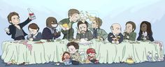 Commission with Angels' Family Dinner by SilasSamle.deviantart.com on @deviantART