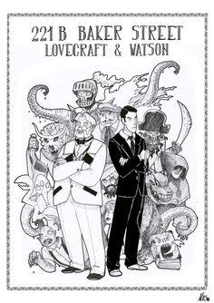 221B Backer street – Lovecraft e Watson • Nastasia Kirchmayr Art