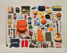 camping items for collage