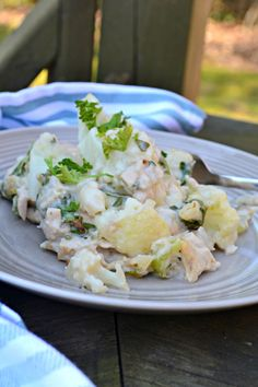 You know what I like? I like casseroles. 'Cause easy, comforting, and delish! I've been working on an AIP-ified tuna casserole for you guys forever and I finally have it ready for you. There are no gluten-y noodles, just yummy veggies. And there's no can of cheap cream of mushroom soup, just a creamy sauce without wheat or dairy (yes! I perfected it!). Here's to ...
