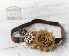 brown baby headband,rose headband, shabby chic roses headband, girls headband,baby hair accessories on Etsy, $10.99