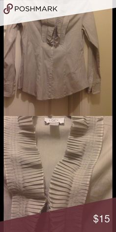 Ann Taylor Loft top Ann Taylor loft button down cotton and spandex (6%) tailored top. Tops Button Down Shirts