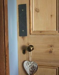 Natural slate door fingerplate