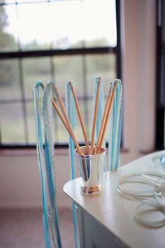 Ribbon wands! Fun favor for a wedding or shower or just a fun thing for little girls!