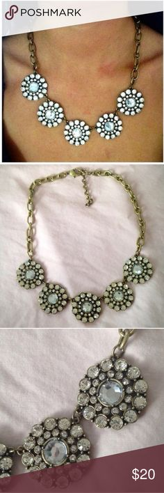 ❤️NEW IN❤️Circle Floral Crystal Statement Necklace Brand new gold toned crystal statement necklace. All jewelry is buy 2 get 1 free. Ships 7/22. Jewelry Necklaces