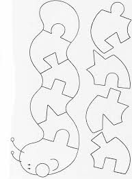 Worm puzzle quiet book page Quiet Book Templates, Quiet Book Patterns, Felt Patterns, Scroll Saw Patterns, Scroll Templates, Printable Templates, Templates Free, Diy Quiet Books, Baby Quiet Book
