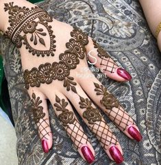 Henna Design By Fatima Modern Henna Designs, Latest Henna Designs, Mehndi Designs Book, Mehndi Design Pictures, Mehndi Designs For Beginners, Mehndi Designs For Fingers, Beautiful Henna Designs, Latest Mehndi Designs, Mehndi Designs For Hands