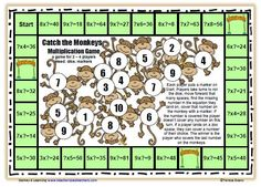 printable monkey game board | ... love this free printable board game this adorable monkey math game