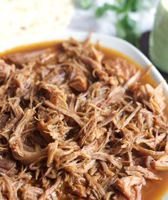 This Instant Pot Cafe Rio Sweet Pork is tender, sweet and absolutely delicious. Perfect for tacos, enchiladas, burritos and salads. You will be in love!