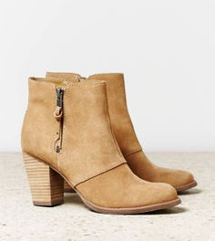 AEO Women's Double Zip Suede Bootie from American Eagle Outfitters. Suede Booties, Bootie Boots, Shoe Boots, Ankle Boots, Shoe Bag, Shoes Heels, Crazy Shoes, Me Too Shoes, Mode Shoes