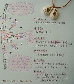 ミニチュアベビーシューズ 編み方説明文 2012.11.12