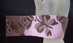 Victorian Butterfly  Peyote Bracelet Cuff by FUNPATTERNDESIGNS, $6.50