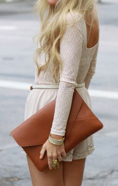 Love that envelope clutch!