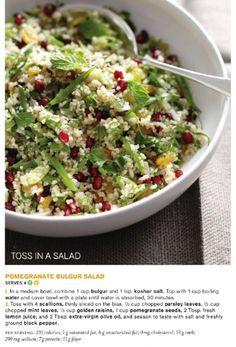 Pomegranate Bulgur Salad