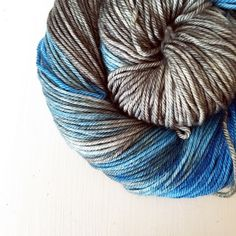 April yarn club - a swirling mix of blues and greys on an amazing squishy high twist DK merino base. I love these colours together and I've seen some lovely things being made already. I've opened up some extra spaces for yarn club next month sign up via the website link in profile for a gorgeous box of hand dyed yarn delivered direct to your door every month.