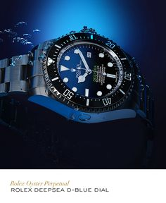 Rolex Deepsea with a D-Blue dial. #Exploration #RolexOfficial