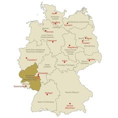 Locator Map of Rhineland-Palatinate. #map #germanymap #germany #mapgermany #rhineland-palatinate by conceptdraw