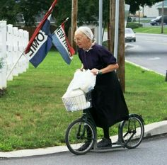 I LOVED the scooter biked the Amish used in Pennsylvania. SO cool!