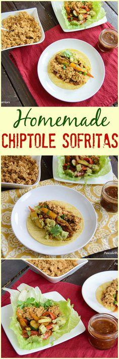 Homemade Chipotle Sofritas! Make your favorite vegan dish at home! Low fat easy to make sofrita recipe you can make tonight!