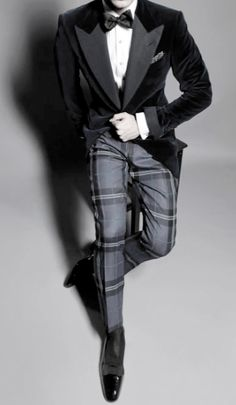 Velvet smoking jacket, plaid pants, bow tie ZsaZsa Bellagio – Like No Other: Let's Hear It For the BOYS!