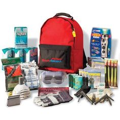 Emergency Supply Kit Disaster Survival Backpack First Aid Food Power Bug Out Bag #survival #preparedness