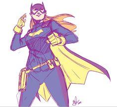 New Batgirl! by jakecastorena Batgirl And Robin, Batman And Batgirl, Barbara Gordon Oracle, Batgirl Of Burnside, Babs Tarr, Batgirl Costume, Lightning Strikes, Art Base, Dc Heroes
