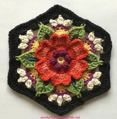 Transcendent Crochet a Solid Granny Square Ideas. Inconceivable Crochet a Solid Granny Square Ideas. Motifs Granny Square, Granny Square Crochet Pattern, Crochet Flower Patterns, Crochet Squares, Crochet Motif, Crochet Flowers, Free Crochet, Knitting Patterns, Knit Crochet