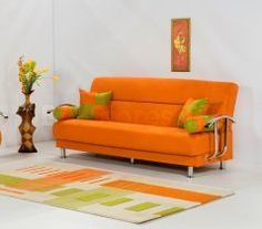 Superior Brenda Sofa Bed In Orange   $550.40 : Furniture Store: Futons,Platform Beds,
