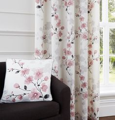 Give your home a Japanese-inspired twist with the beautiful cherry blossom print of the Paige Blush Cushion Cover. The delicate tones of grey and blush pink are complimented by a bolder grey trim. The cushion cover is priced at £6, with the option of matching eyelet curtains also available.