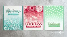 MFT Starry Night Background, Waffle Flower Celebrate Die, ME: Hello Friend Wishes Stamps, and Cracked Pistachio Distress Ink., Ombre, Jennifer McGuire Ink