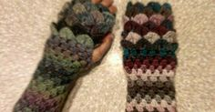 free pattern (thank you!) for dragon scale gloves