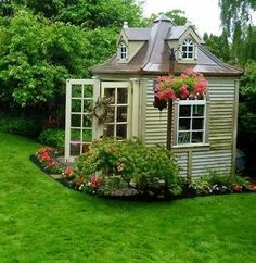 garden+shed+greenhouse+combination | rustic sheds/greenhouses