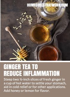 Ginger is full of immune-boosting antioxidants, and acts as a natural pain and fever reducer.