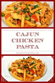 "Cajun chicken pasta, with penne, chicken breast strips, and healthy veggies in a creamy, mildly spicy sauce are featured in this ""lightened up"" copycat version of a famous restaurant's dish!"