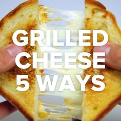 Grilled Cheese 5 Ways. The last one would make a great Fall weeknight dinner.