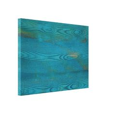 Abstract teal blue wood texture Wrapped canvas Stretched Canvas Prints