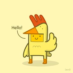 Introducing Roger the Rooster - The Roundlings #cute #drawing #postcard