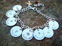Sporty girls love a fashionable memento of their beloved sports! Acrostic Poem Hand Stamped Charm Bracelet, Sterling http://www.bellamerce.com/sports-leisure-gifts/