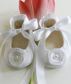 Easter Baby Shoes - 14 Colors Avail. - White Baby Shoes - Christening - Baptism - Flower Girl - Wedding - Baby Souls Baby Shoes