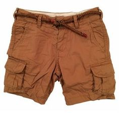 Scotch Shrunk Cotton Cargo Short Brown Scotch Shrunk, Cargo Short, Summer Sunglasses, Shorts, Brown, Tees, Cotton, Fashion, Moda