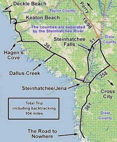 Steinhatchee Road To Nowhere Dallus Creek Hagen S Cove Keaton Beach Deckle
