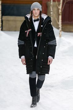 The complete Thom Browne Fall 2018 Menswear fashion show now on Vogue Runway.