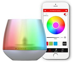 MiPow Playbulb Candle LED-Kerzenlicht (steuerbar Farbwechsel/-effekte per App/Smartphone) bunt