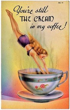 LE103 BATHING BEAUTY BAIGNEUSE PLONGEON BATH SUIT diving in a CUP of COFFEE