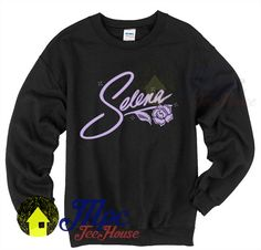 Selena Quintanilla Signature Crewneck Sweatshirt available Size Size S-XXL is the original design that we have created in our studio. Selena Quintanilla Perez, Selena Shirt, Latest Winter Fashion, Selena Pictures, Jackson, Crew Neck Sweatshirt, T Shirt, Dope Outfits, Fall Winter Outfits
