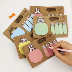 1pcs Cute Kawaii Animal Kraft Paper Sticker Post It Bookmark Point It Marker Memo Flags Sticky Notes Scrapbooking Creative Gifts
