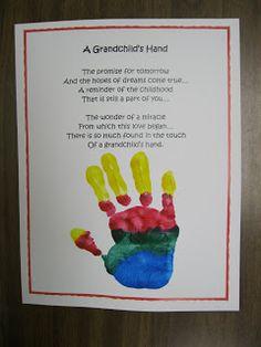 Grandparent's Day Hand Print Poem