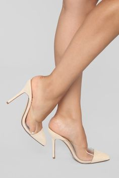 31318a78e54 In Comparison Pump - Nude. Stiletto Heels ...